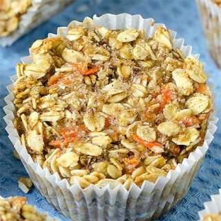 Healthy Carrot Oatmeal Muffins