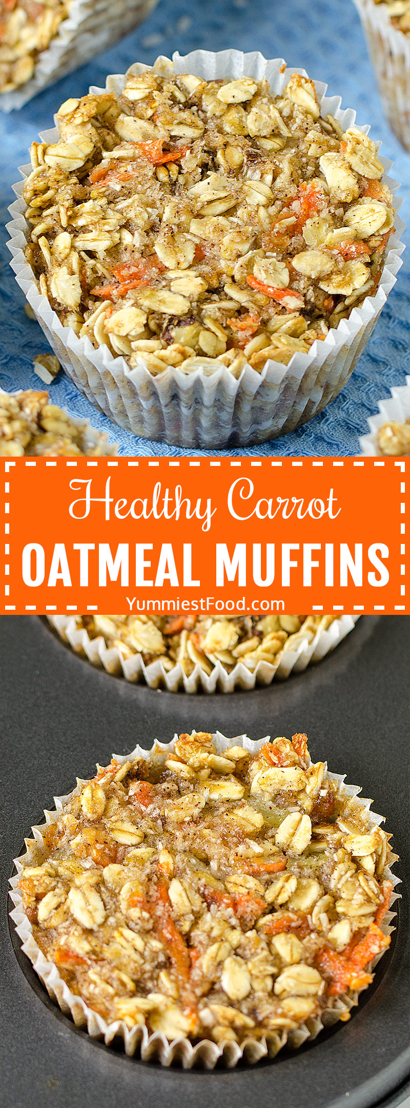 HEALTHY CARROT OATMEAL MUFFINS - healthy way to start your day