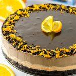 No Bake Chocolate Orange Cheesecake Recipe - Featured Image