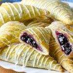 Easy Puff Pastry Blueberry Turnovers - Featured Image