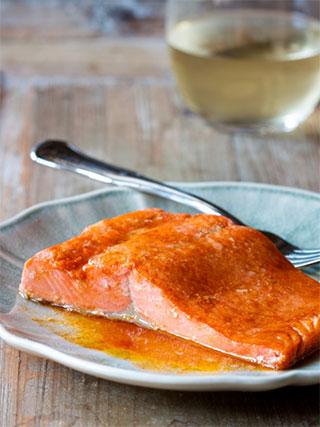 Salmon & paprika