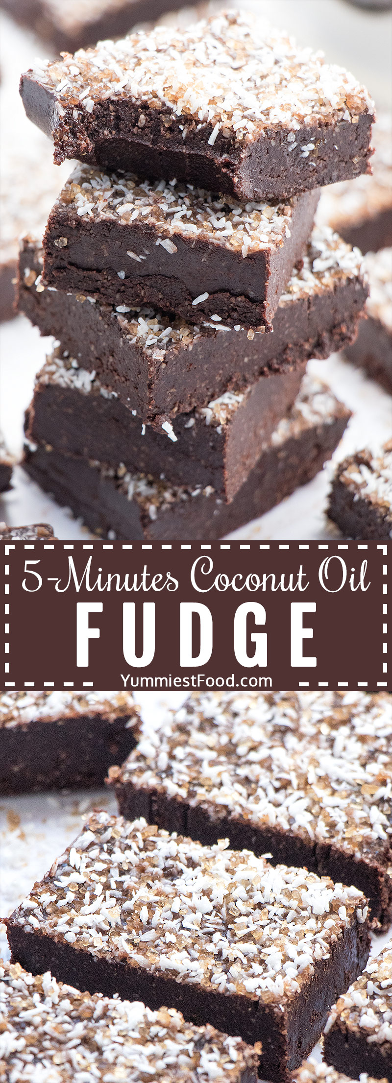 Coconut Oil Fudge - paleo, dairy-free and gluten-free delicious dessert