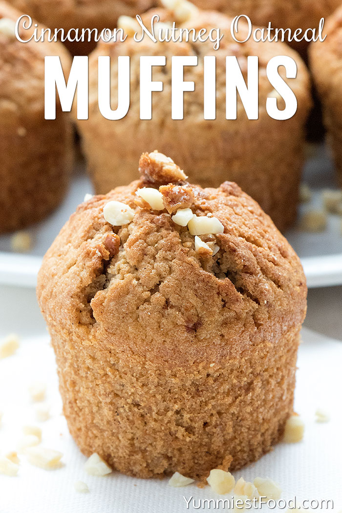 Cinnamon Nutmeg Oatmeal Muffins Recipe