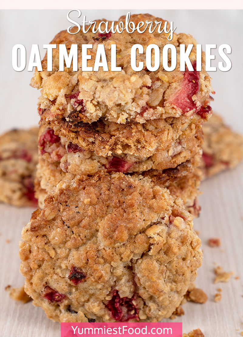 Strawberry Oatmeal Cookies Recipe