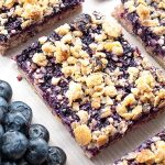 Breakfast Blueberry Oatmeal Crumb Bars - Featured Image