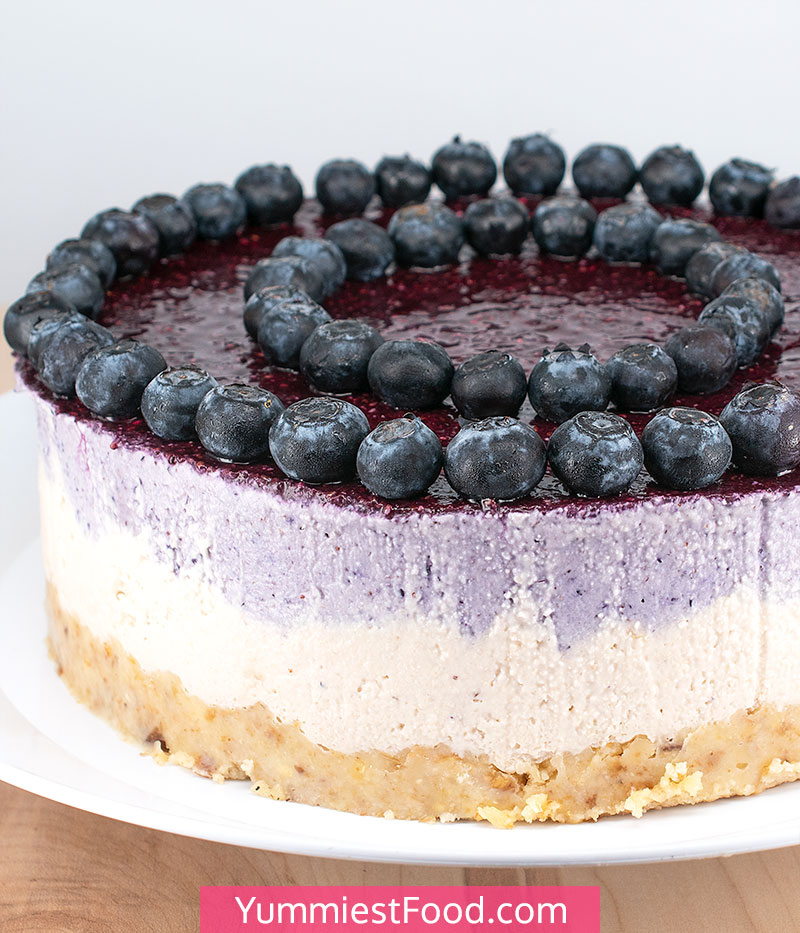 No Bake Blueberry Cheesecake - a Whole Cheesecake
