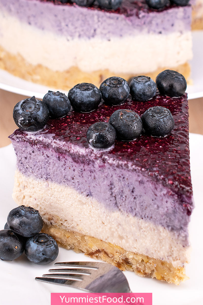 No Bake Blueberry Cheesecake (Paleo, Vegan & Gluten Free)