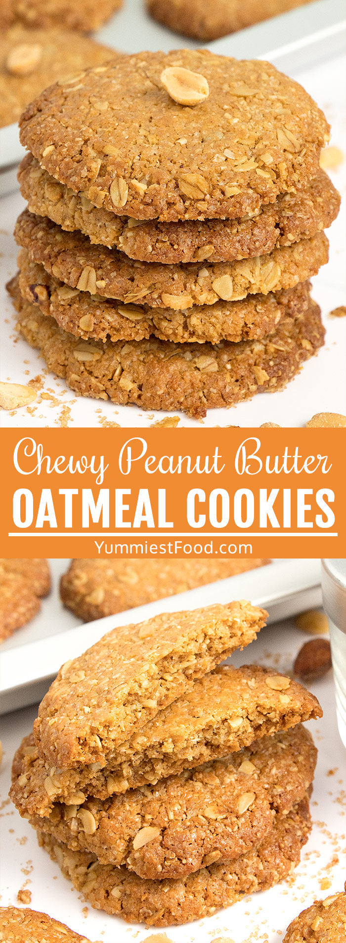 Chewy Peanut Butter Oatmeal Cookies - so tasty, so there's no doubt why they are favorite among the children