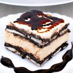 No Bake Salted Caramel Oreo Icebox Cake Recipe - Featured Image