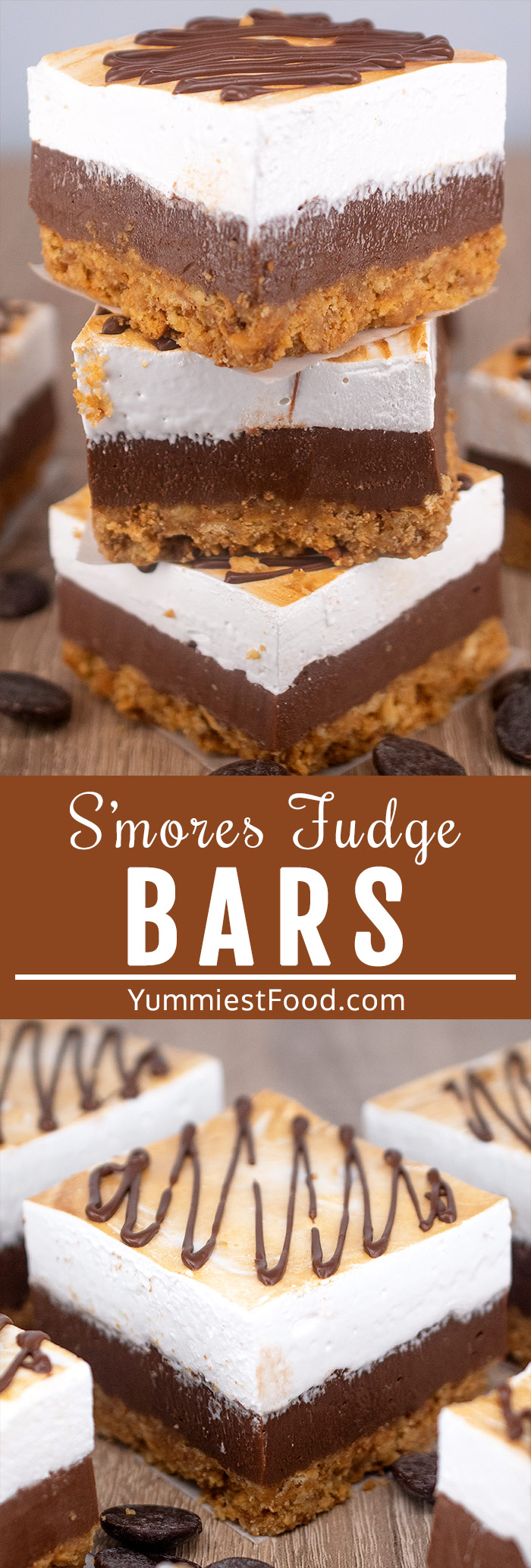 These S'mores Fudge Bars with Homemade Marshmallow Topping are a great sweet treat, for the family and for when a crowd is coming round.