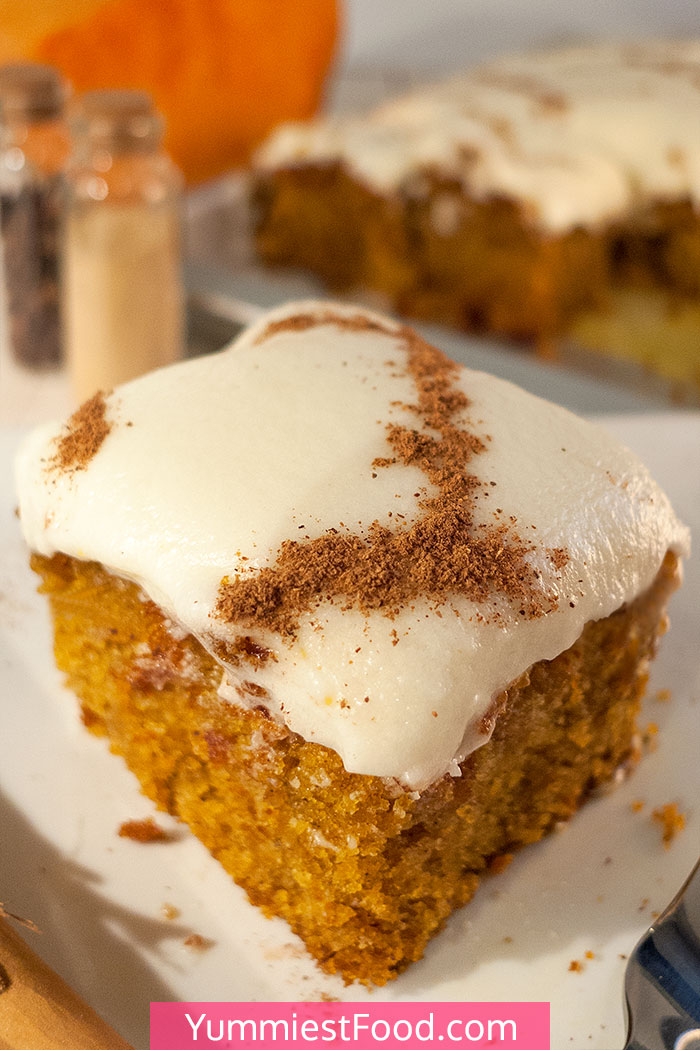 Pumpkin Sugar Cookie Bars with Cream Cheese Frosting Recipe