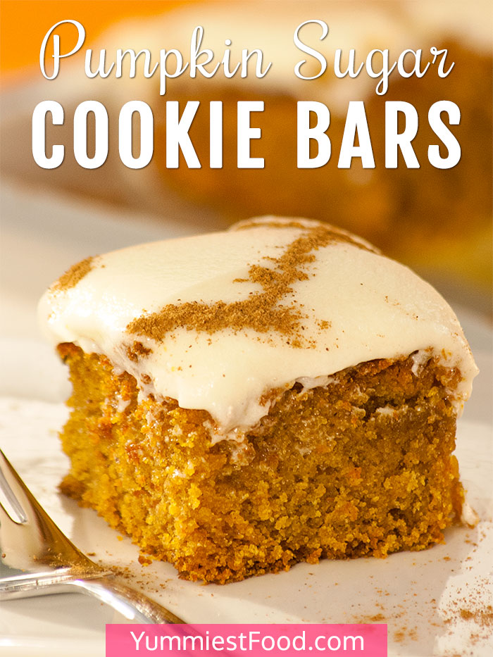 Pumpkin Sugar Cookie Bars