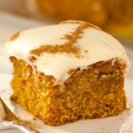 Pumpkin Sugar Cookie Bars with Cream Cheese Frosting - Featured Image