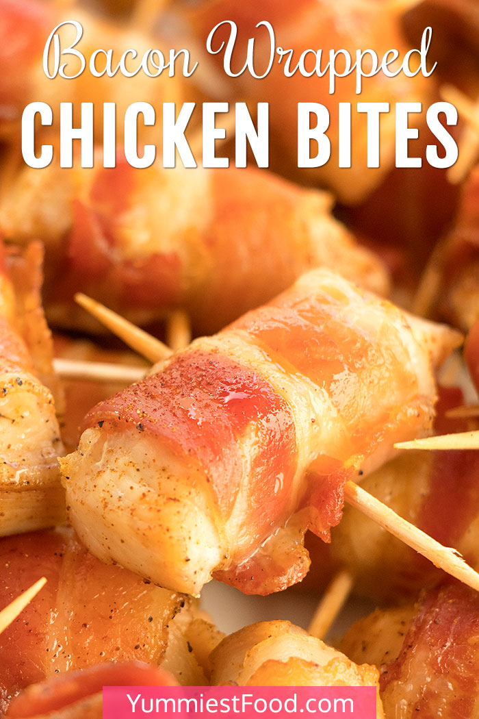 Bacon Wrapped Sweet Chicken Bites Recipe