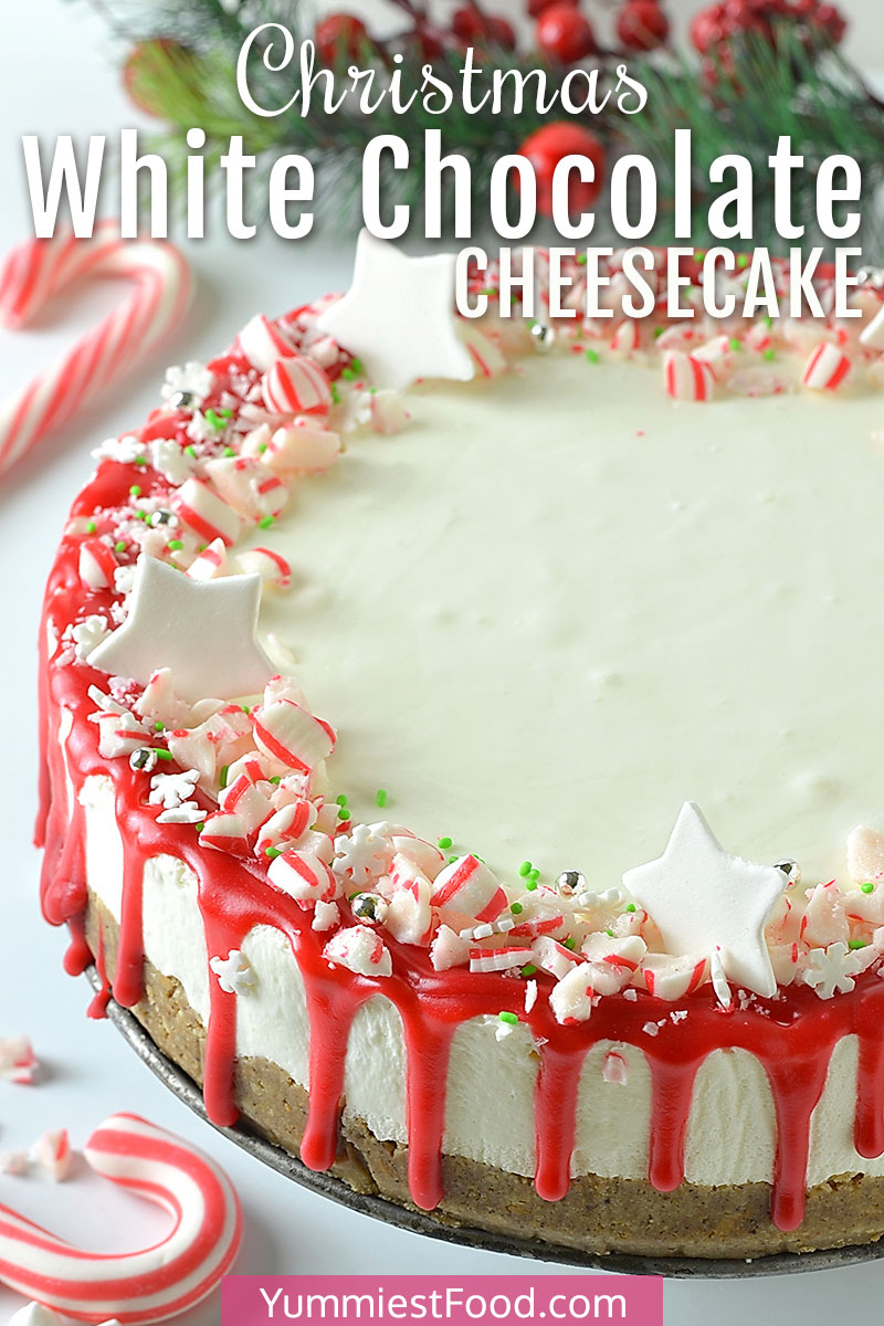 Christmas White Chocolate Cheesecake