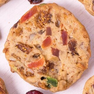 Fruitcake Christmas Cookies - Featured Image