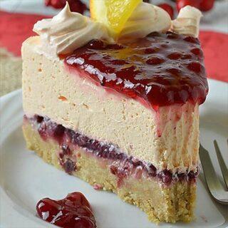 Cranberry Orange Cheesecake Recipe - Featured Image