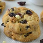 Cranberry White Chocolate Cookies - Featured Image