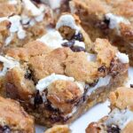 S'Mores Chocolate Chip Cookie Bars - Featured Image