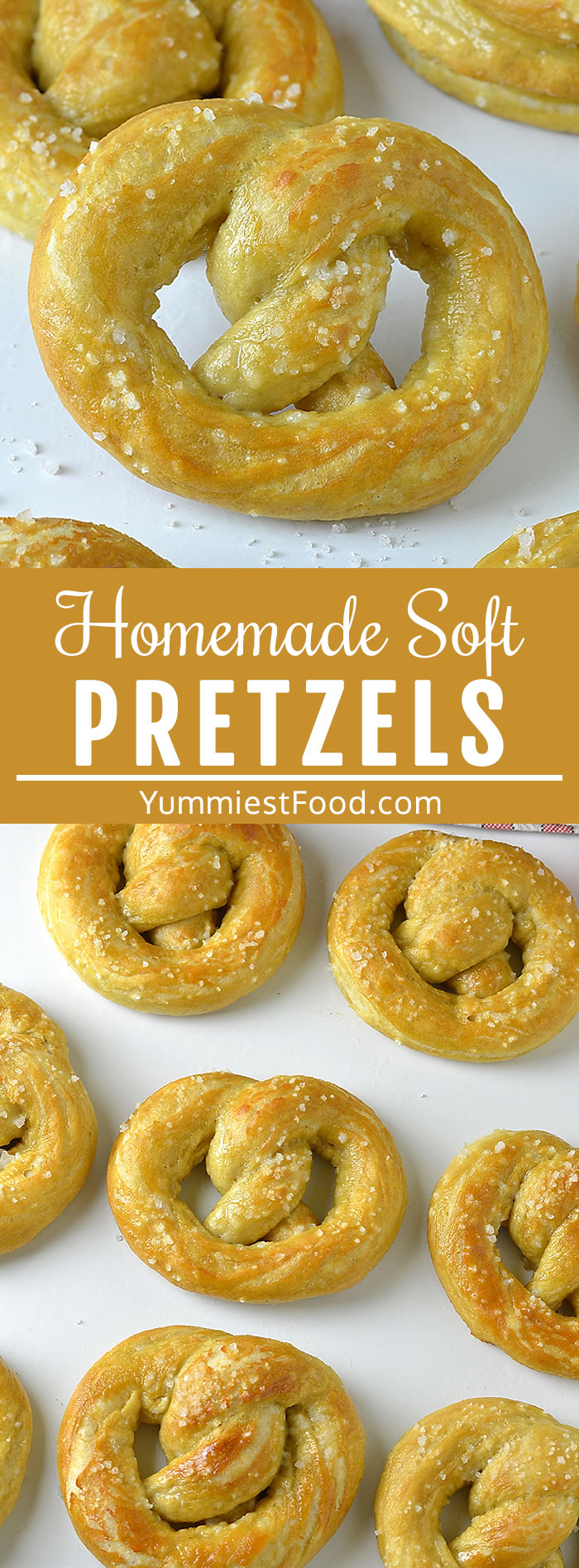 Homemade Soft Pretzels are easy to make and the perfect party food! Salty, buttery and warm, soft pretzels are perfect for Game Day or just for a fun afternoon snack! #gameday #gamedayfood #gamedayrecipes #gamedayappetizers #superbowlrecipes #appetizers #appetizerseasy #breakfast