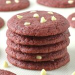 Red Velvet White Chocolate Chip Cookies - Featured Image