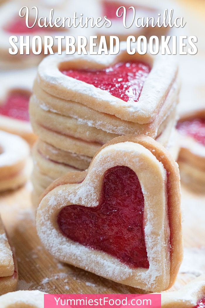 Valentines Vanilla Shortbread Cookies Recipe