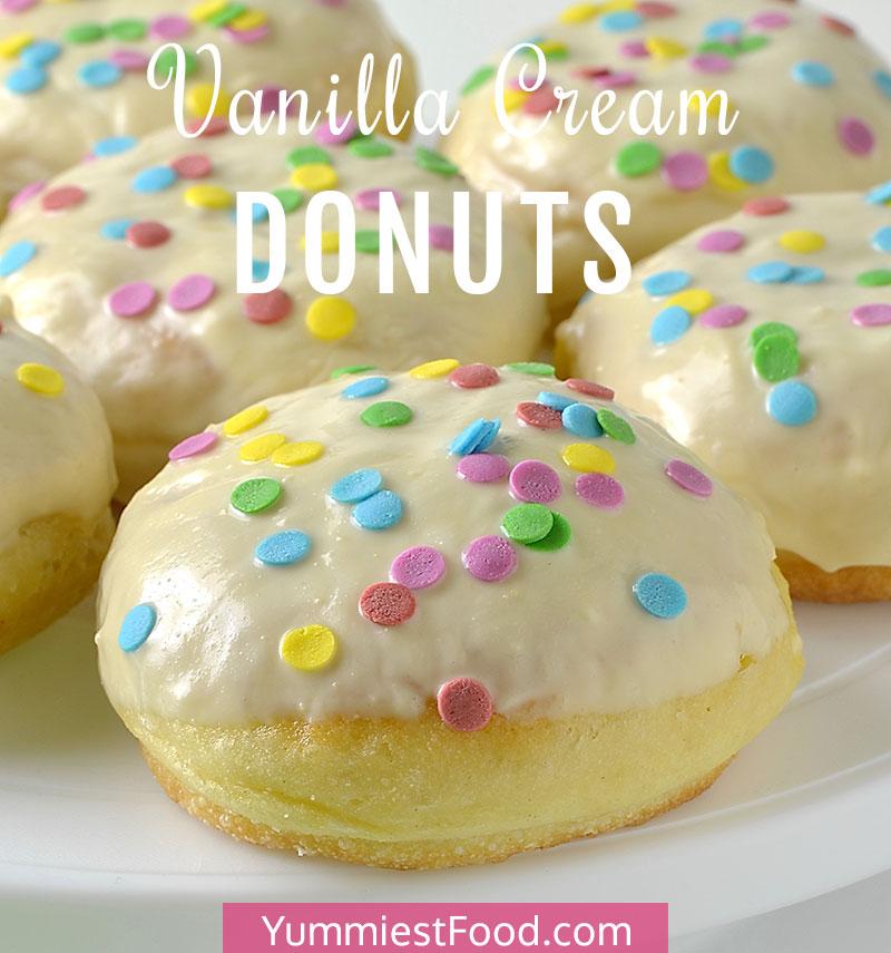 Vanilla Cream Donuts Recipe