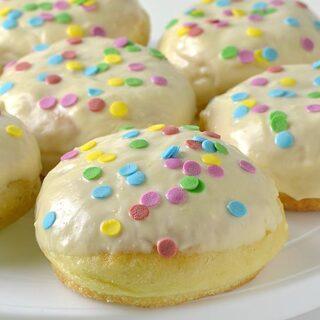 Vanilla Cream Donuts Recipe - Featured Image