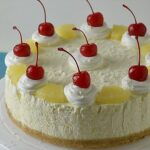 Piña Colada Cheesecake Recipe - Featured Image