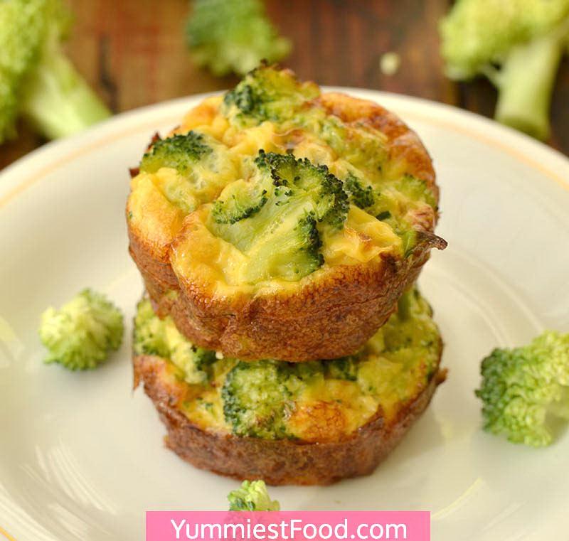 Broccoli Cheddar Egg Muffins Recipe